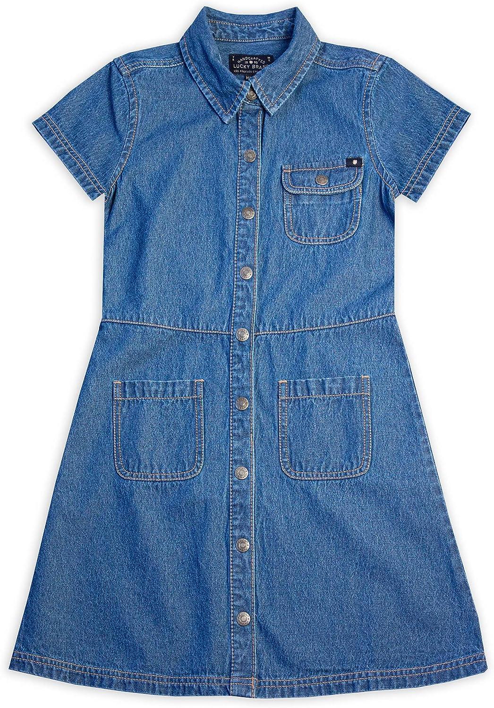 Lucky Brand Girls' Denim Shirt Dress