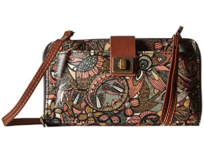 Sakroots Artist Circle Large Smartphone Crossbody (Sienna Spirit Desert) Clutch Handbags