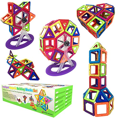 Magnetic Building Blocks Gift Desire Deluxe Kids Magnetics Construction Block Games For Boys And Girls Creativity