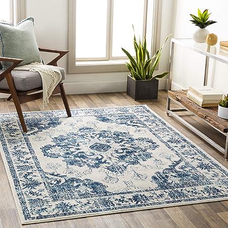 Amazon Com Artistic Weavers Kaija Area Rug 9 X 12 Ice Blue Furniture Decor
