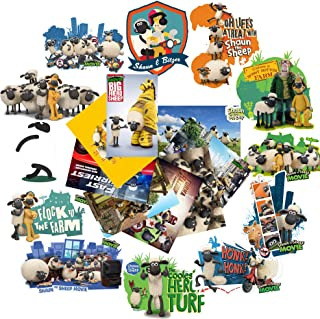 GTOTd Stickers for Shaun The Sheep 2. for Car, Laptop, Luggage, Skate Board, Motorcycle, Bicycle Decal Graffiti Patches (20 Pieces)