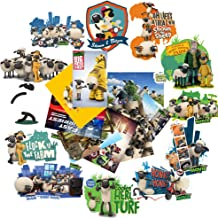 GToTd Shaun The Sheep 2 Vinyl Waterproof Stickers for Car, Laptop, Luggage, Skate Board, Motorcycle, Bicycle Decal Graffiti Patches (20 Pieces)