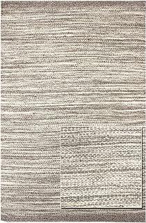Landry & Arcari Striae Collection J42968 Grey Hand-loomed Dhurrie Area Rug 10 feet by 14 Feet (10x14)