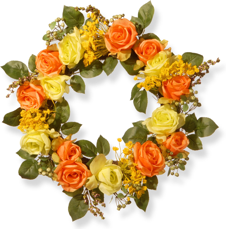Door Wreath Wildflower Paisley Daylilies Satin Ribbon 20 Inch D\u00e9cor Door Wreaths Roses Pink /& White-Chevron Ribbon