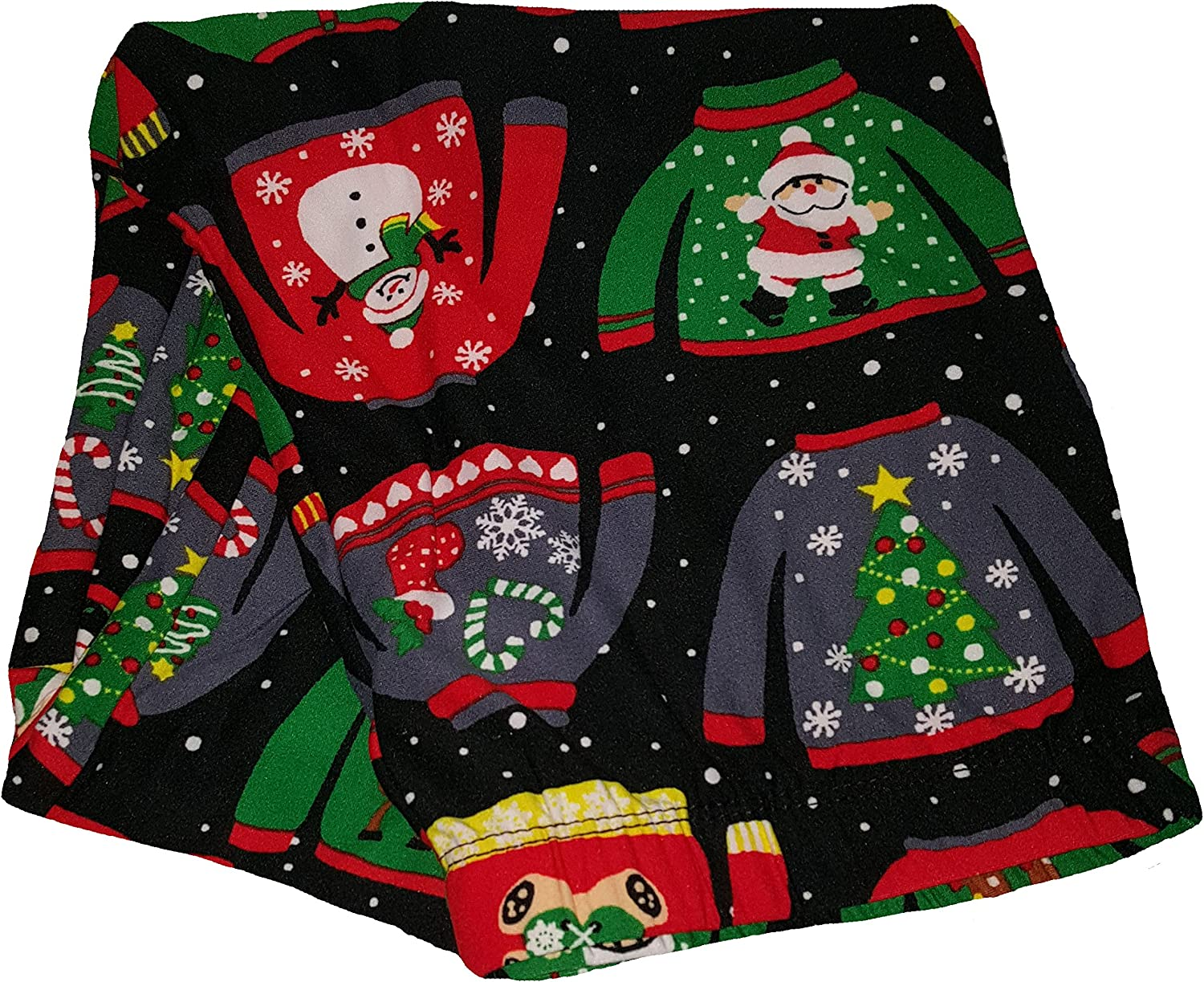 Christmas Sweaters All Over Black Super Soft Sueded Legging