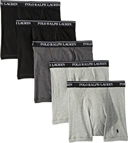Classic Fit w/ Wicking 5-Pack Boxer Briefs