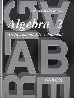 Saxon Algebra 2: Homeschool Packet