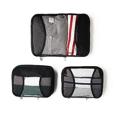 Baggallini 2 Medium / 1 Large Compression Cubes (Midnight Blossom) Handbags