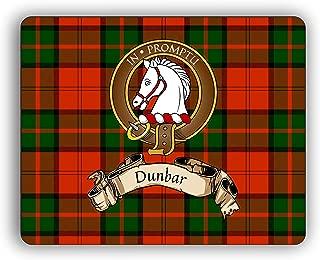 Scottish Clan Dunbar Tartan Crest Computer Mouse Pad