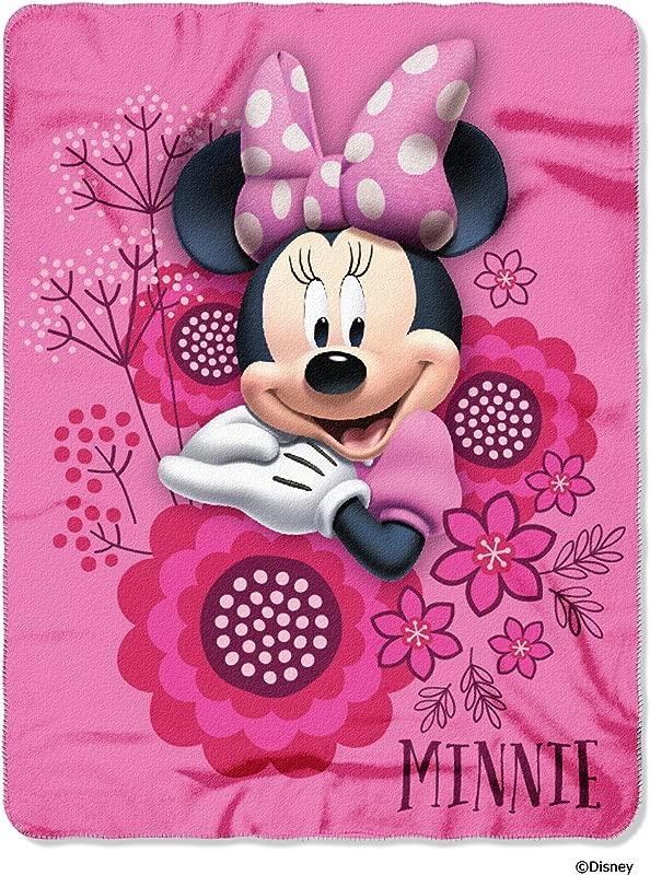 Disney S Minnie S Bowtique So Many Bows Fleece Throw Blanket 45 X 60 Multi Color