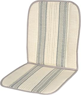 Carfactory - Respaldo de verano para asiento de coche, fabricado en fibra de rafia, esterilla de coche verano, esterilla frescor.