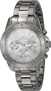 Invicta Women's 'Wildflower' Quartz Stainless Steel Casual Watch, Color Silver-Toned (Model: 21730)