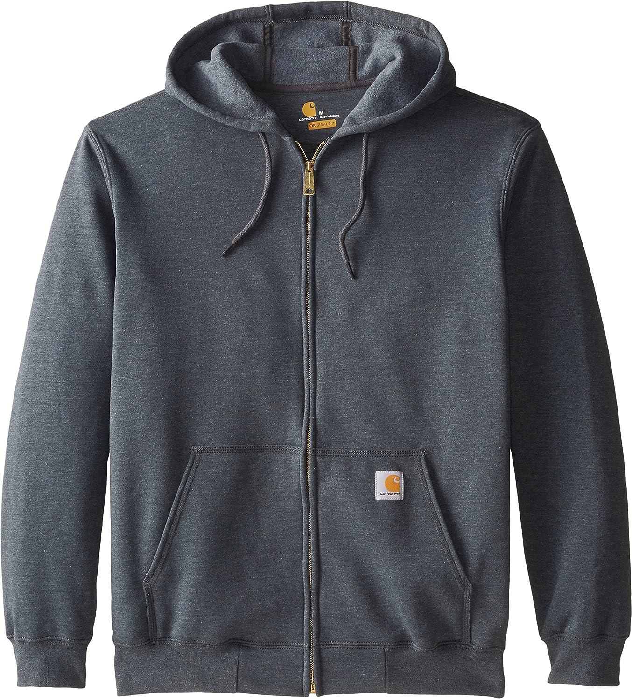 Carhartt Midweight Hooded Zip-Front Sweatshirt Maillot de survêtement Homme Gris Foncé