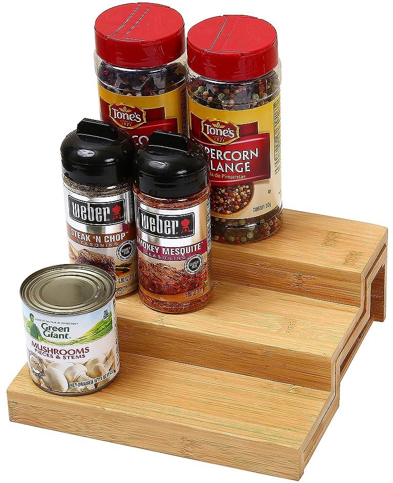 Ybm Home 3 Tier Spice Rack Step Shelf Organizer 334 (1, 10 in. L x 8.45 in. W x 3.45 in. H)