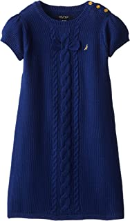 Nautica Girls' Woven Sweater Dress with Buttons