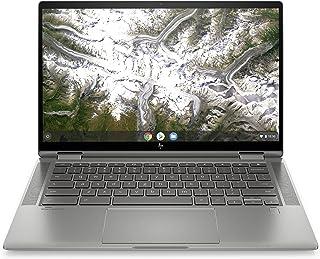 HP Chromebook x360 14c-ca0000sf/14c-ca0005nf Ordinateur Ultraportable Convertible et Tactile 14'' FHD Argent (Core i3, RAM 8 Go, eMMC 128 Go, Chrome OS, AZERTY)