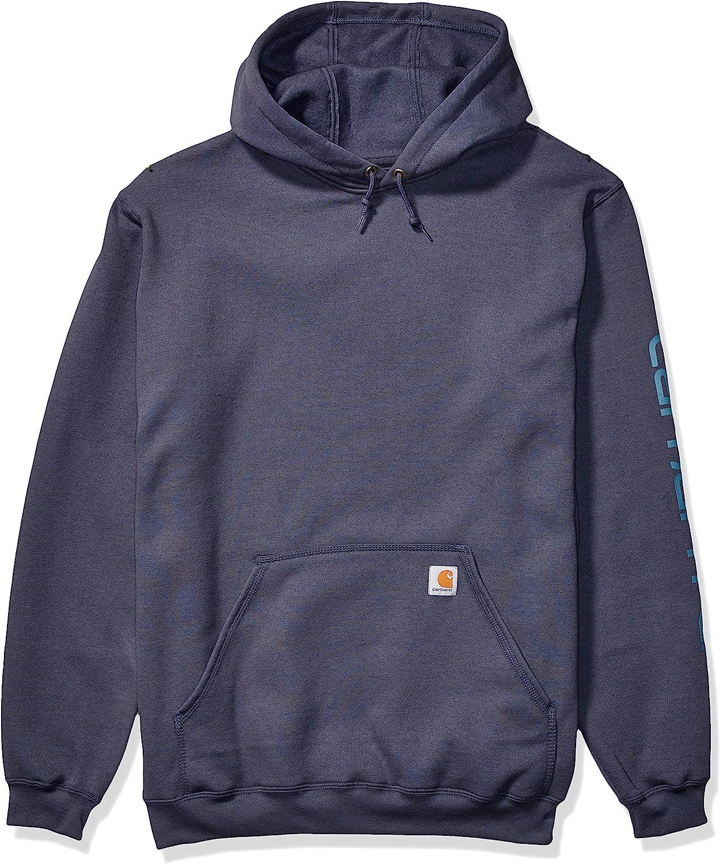 Cheap Carhartt Men's Direct sale of manufacturer Mid Weight Hooded Logo Tall Sweatshirt Work