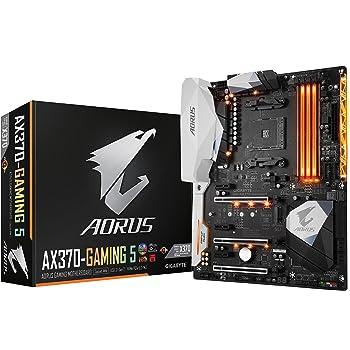 GIGABYTE AORUS GA-AX370-Gaming 5 (AMD Ryzen AM4/ X370/ RGB FUSION/ SMART FAN 5/ HDMI/ M.2/ U.2/ USB 3.1 Type-C/ ATX/ DDR4/ Motherboard)