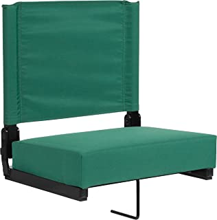 Flash Furniture Grandstand Comfort Seats by Flash with Ultra-Padded Seat in Hunter Green