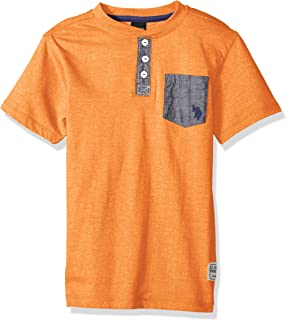 U.S. Polo Assn. Boys' Short Sleeve Solid Henley T-Shirt