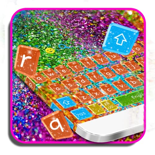 Colorful Glitter Keyboard Theme