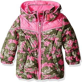 Pink Platinum Baby Girls Camo Colorblock Puffer