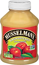 Musselman's Unsweetened Apple Sauce - low calorie, gluten free snack, low sodium, kosher, fat-free, no cholesterol, no high fructuse corn syrup, from 100% fresh American Grown Apples. (48oz x 8)