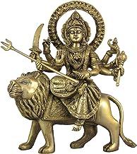 Hindu Decor Goddess Durga Statue Religious Brass Sculpture 12 Inches