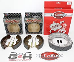 QUALITY Front & Rear Brake Shoes & Springs SET for the Honda 2000-2006 TRX 350 Rancher ATV