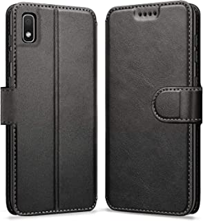 "ykooe Case for Samsung Galaxy A10E (5.83"") Leather Wallet Flip Case with Card Slots Protective Cover for Samsung Galaxy A10E (Black)"