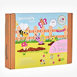 jackinthebox Junior. - Bugs and Bees Themed Art and Craft kit | 3-in-1 Craft Kit | Best Gift for Girls and Boys Ages 3 4 5...