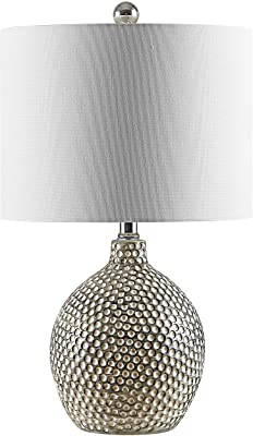 Safavieh Lighting Collection Breeda 19-inch Ivory/Silver Ceramic Table Lamp (LED Bulb Included) TBL4270A