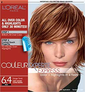 L'Oréal Paris Couleur Experte 2-Step Home Hair Color & Highlights Kit, Ginger Twist