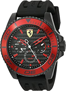 Scuderia Ferrari Men's 'XX KERS' Quartz Stainless Steel and Silicone Casual Watch, Color:Black (Model: 0830310)