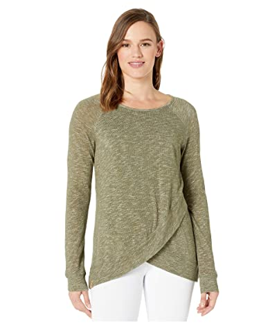 tentree Acre Long Sleeve (Olive Night Green Marled) Women