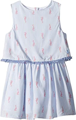 Woven Double Layer Dress (Toddler/Little Kids)