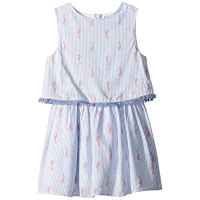 Joules Kids Woven Double Layer Dress (Toddler/Little Kids) (Seahorse Stripe) Girl
