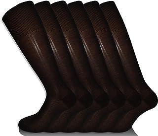 Calcetines largos artesanales de algodón, hilo de Escocia, fabricados en Italia, elegantes, prácticos y frescos