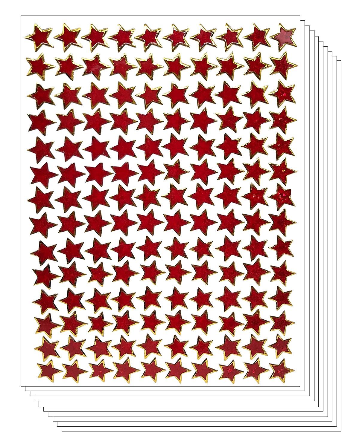 Star School Reward Stickers Kid (10 Sheets, Small, Red)
