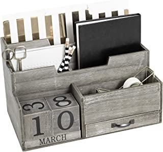black wooden mail organizer