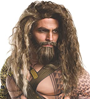 Rubie's Costume Co. Men's Batman V Superman: Dawn of Justice Aquaman Beard and Wig