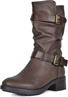 Best brown mid calf boots with heel Reviews