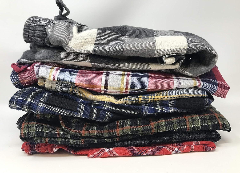 2 Pack Andrew Scott Mens 100/% Cotton Super Soft Flannel Plaid Pajama Pants