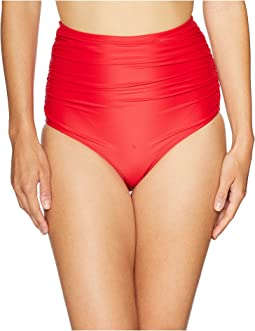 Ruched Georgiana High-Waist Bottom