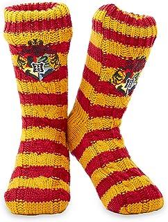 Harry Potter Fluffy Slipper Socks - Gryffindor Deluxe Knitted Winter Warm Fleece Lined Chunky Slipper Bed Socks Ladies Non...