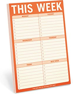 Knock Knock This Week Pad, To Do List Notepad, 6 x 9-inches