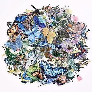 240PCS Autocollants Décoratifs Transparents,Autocollant Scrapbooking Fleurs Papillons Stickers Vintage Pour Scrapbooking,O...