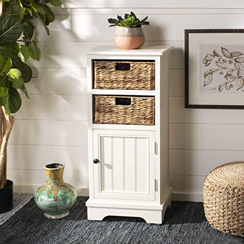 Wicker Basket Storage Cabinet Amazoncom