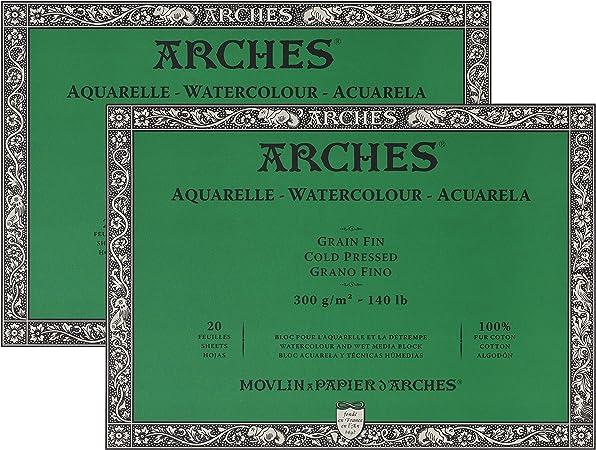 140 pound Arches Watercolor Paper Block Cold Press 7.9 x 7.9
