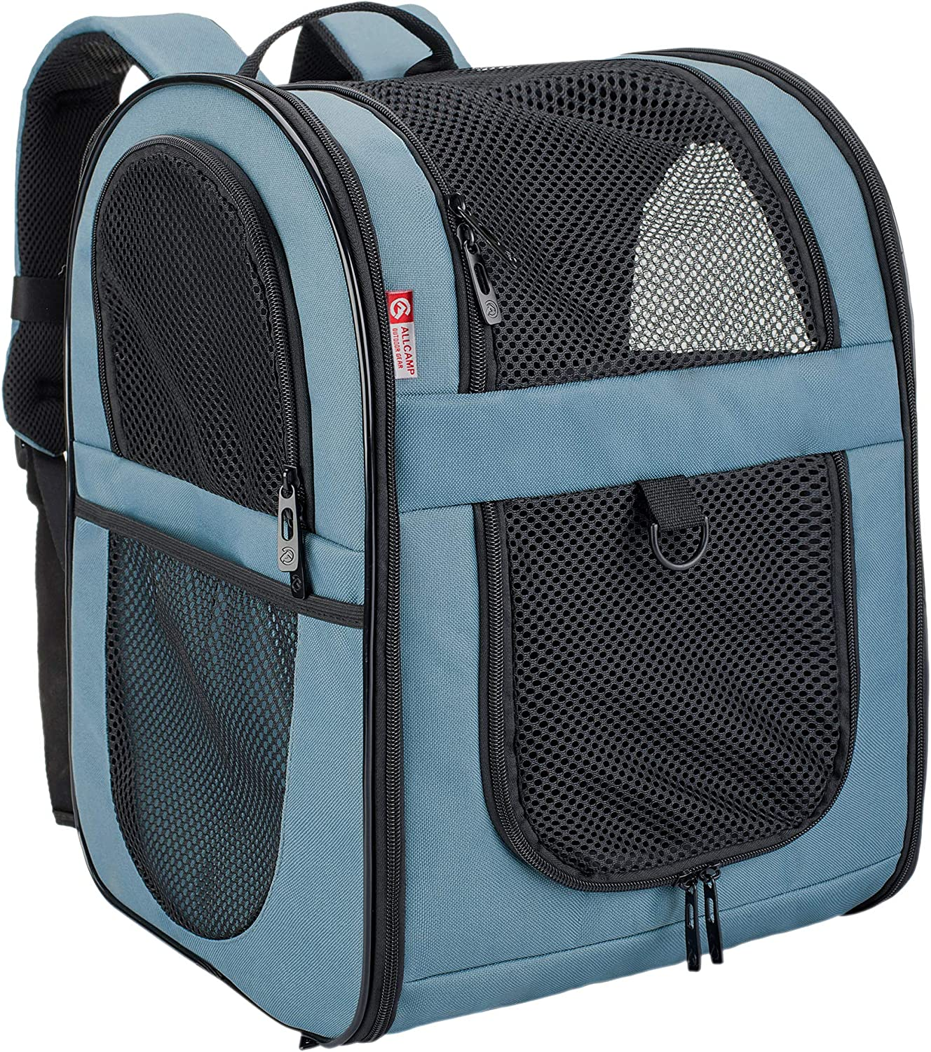 Apollo walker Pet Carrier Backpack for Small Cats and Dogs, Puppies, TwoSided Entry, Safety Features and Cushion Back Support   for Travel, Hiking, Outdoor Use (bluee)